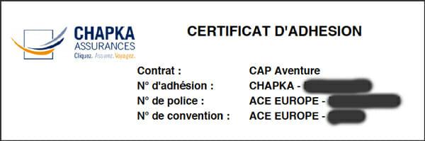 chapka certificat