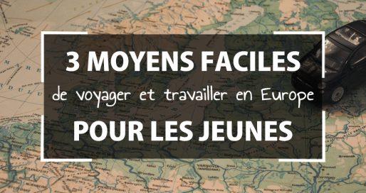 moyens voyager et travailler en europe