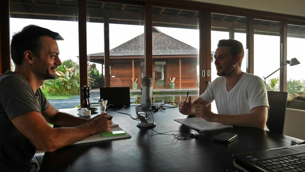 enregistrement podcast bali