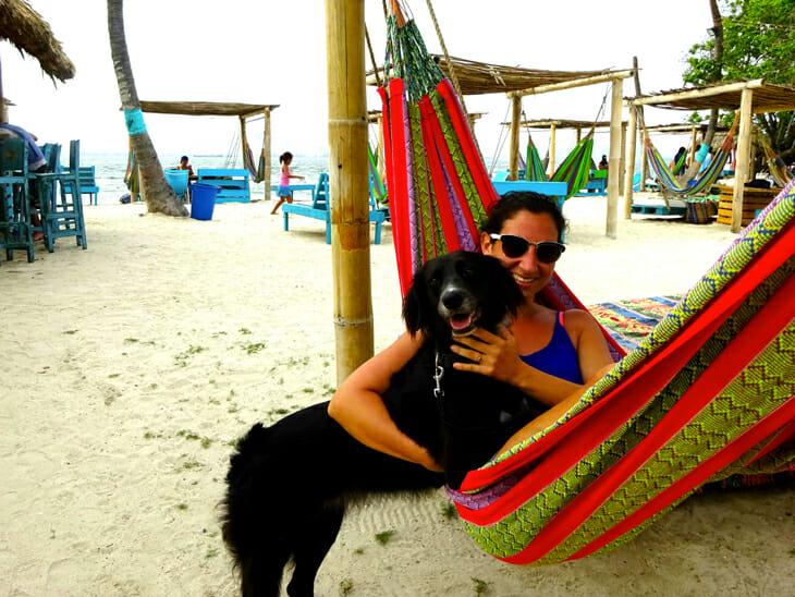 marie et son chien colombie