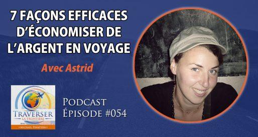 podcast 54 économiser de l'argent en voyage