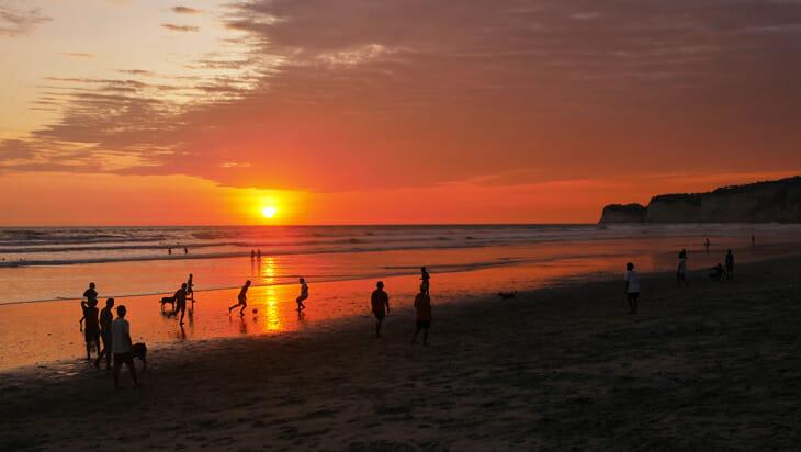 sunset canoa