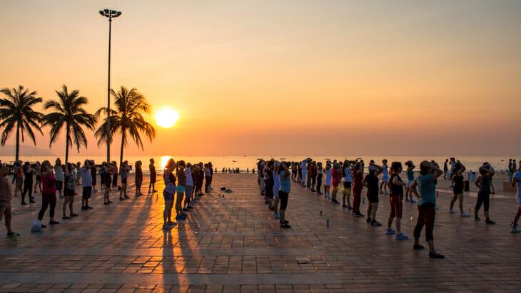 Un lever du soleil à Da Nang lors de mon trip en solo au Vietnam