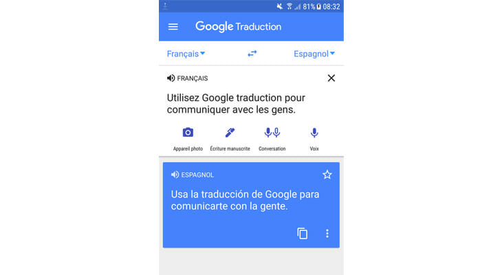 Utilisez Google Trad quand on voyage en solo