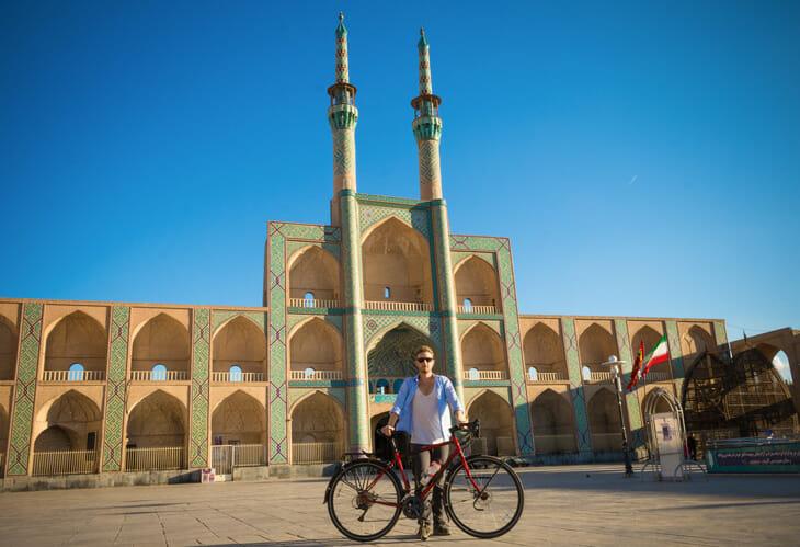 Michael à Yazd en Iran